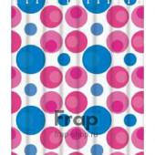 8802 F Peva (рисунок розовые и голубые шары) 180*180