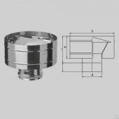 Зонт-Д с ветрозащитой Ф115 (430/0,5 мм)