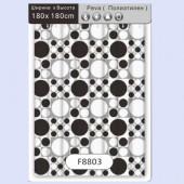 8803 F Peva (рисунок черные и белые шары) 180*180