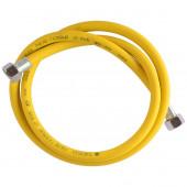"Подводка для газа ПВХ (желтая) 1/2"" 1,2 м г/г"
