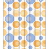 8804 F Peva (рисунок голубые и оранжевые шары) 180*180