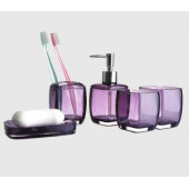 F301-3 Набор аксессуаров для ванной комнаты (фиолетовый) F 301-3