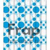 8806 F Peva (рисунок белые и голубые шары)180*180