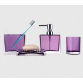 F302-3 Набор аксессуаров для ванной комнаты (фиолетовый) F 302-3