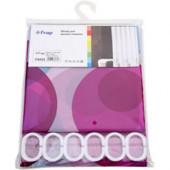 8852 F Peva (рисунок розовые и голубые шары) 180*200