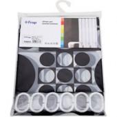 8853 F Peva (рисунок черные и белые шары) 180*200